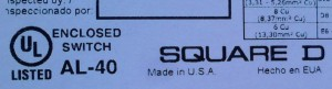 Square D Made in USA